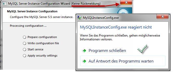 Прикрепленное изображение: MySQL сервер,  может зависнуть, отмените установку.jpg