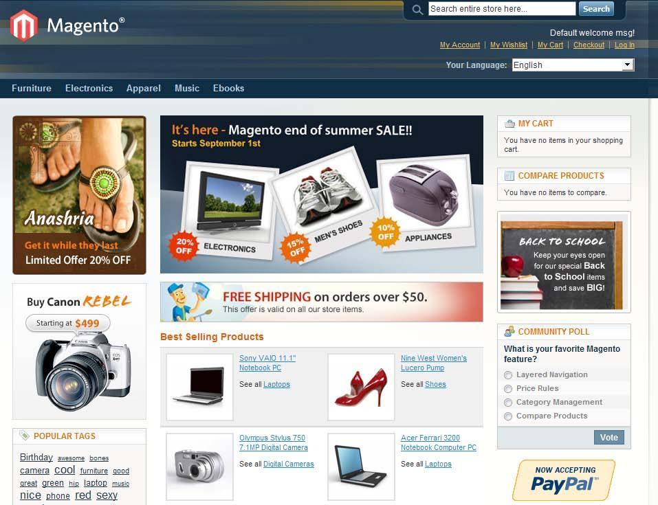 Magento как сделать магазин на двух языках