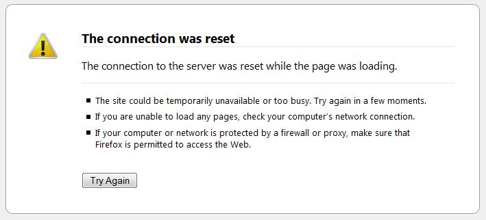 Прикрепленное изображение: ERR_CONNECTION_RESET-Firefox.png